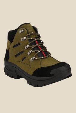 Afrojack Himalaya Powerhouse Olive Outdoor Shoes