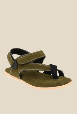 Afrojack Olive Back Strap Sandals