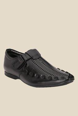 Afrojack Black Fisherman Sandals - Mp000000001004286