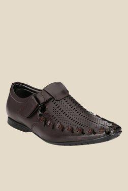 Afrojack Dark Brown Fisherman Sandals - Mp000000001003139