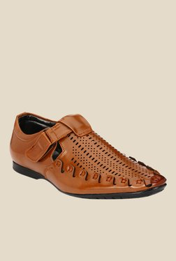 Afrojack Tan Fisherman Sandals