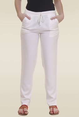 Elini Off White Regular Fit Trouser