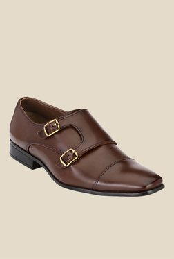 Afrojack Brown Monk Shoes