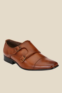 Afrojack Dark Tan Monk Shoes - Mp000000001005244