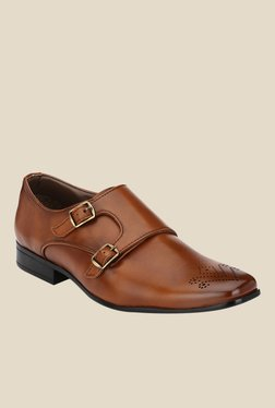 Afrojack Dark Tan Monk Shoes