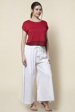 Zudio Red Slim Fit Pure Cotton Top