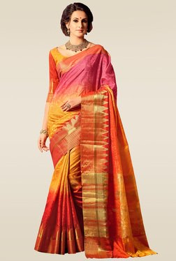 Ishin Multicolor Woven Saree With Blouse