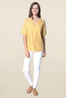 Hitch-Ki Yellow Striped Top
