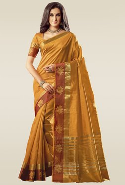 Ishin Yellow Woven Saree With Blouse