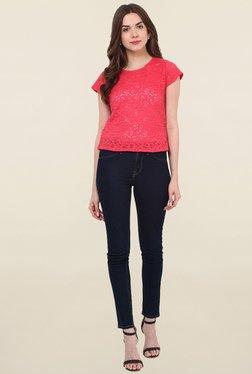 Hitch-Ki Coral Lace Crop Top