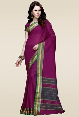 Ishin Purple Zari Saree With Blouse - Mp000000001014058
