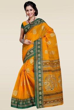 Ishin Yellow Woven Zari Saree With Blouse - Mp000000001014329