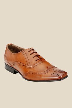 Afrojack Tan Brogue Shoes
