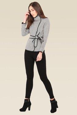 Saiesta Black & White Regular Fit Jacket