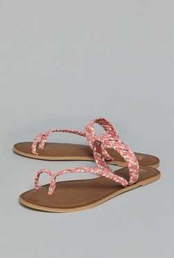 Head Over Heels by Westside Coral Toe Ring Sandals