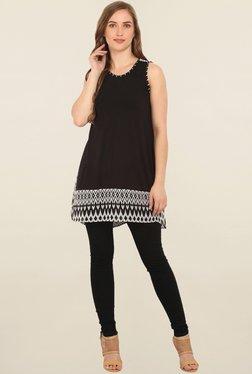 Trendy Divva Black Print Tunic