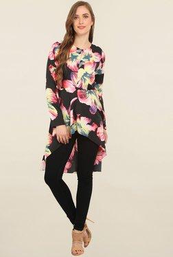 Trendy Divva Black Floral Print Tunic