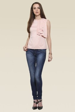 Saiesta Pink Round Neck Relaxed Fit Top