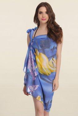 Clovia Blue Printed Sarong