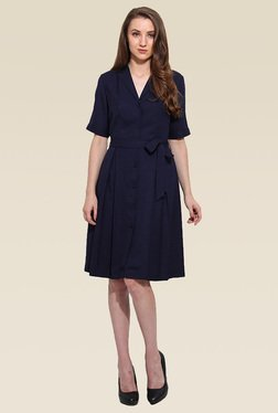 Saiesta Navy Half Sleeve Dress