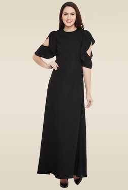 Femella Black Short Sleeves Dress