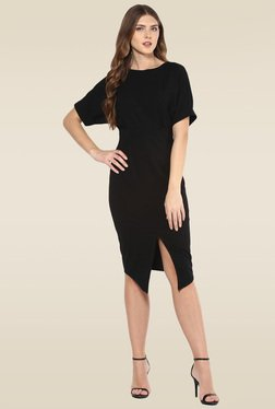 Femella Black Regular Fit Dress