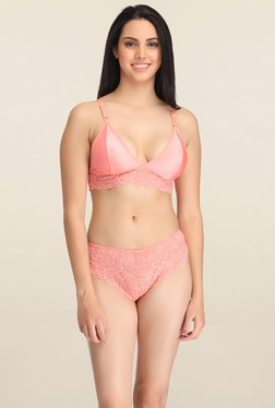 Clovia Peach Non Wired Bikini Set