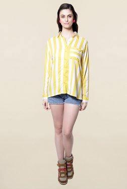 Hitch-Ki Yellow & White Striped Shirt