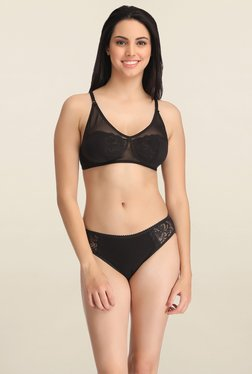 Clovia Black Non Wired Bikini Set