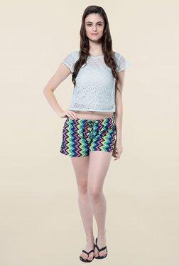 Hitch-Ki Multicolor Chevron Print Shorts