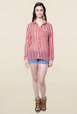 Hitch-Ki Red & White Striped Shirt