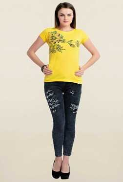 Zola Yellow Floral Print T Shirt