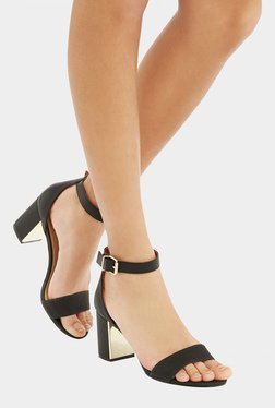 Oasis Roxy Black Ankle Strap Sandals