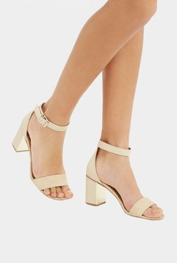 Oasis Roxy Light Neutral Ankle Strap Sandals