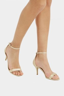 Oasis Barely-There Golden Ankle Strap Stilettos