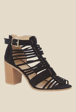 Oasis Strappy Black Gladiator Sandals
