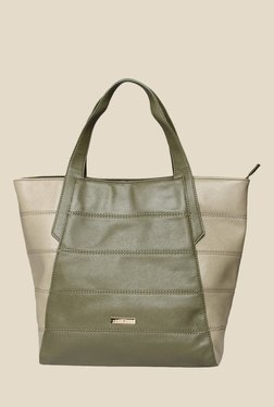 Addons Olive Striped Tote Bag