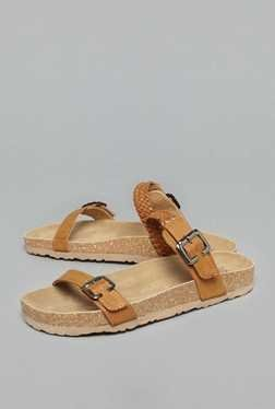 Head Over Heels by Westside Tan Slide Sandals