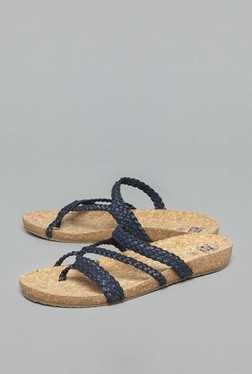 Head Over Heels by Westside Navy Braided Strap Sandals