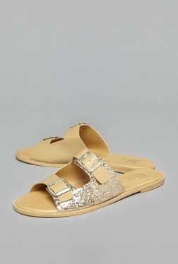 Head Over Heels by Westside Gold Buckle Sandals