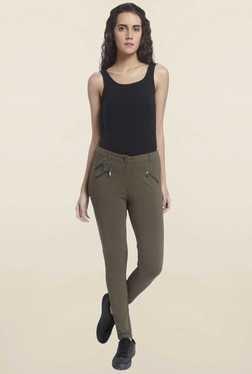 Vero Moda Olive Solid Pants