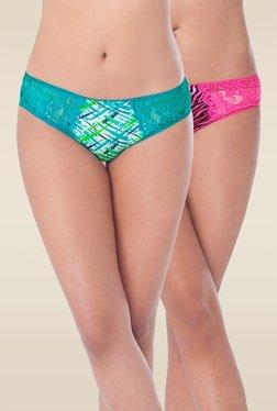 Prettysecrets Pink & Turquoise Bikini Panties (Pack Of 2)