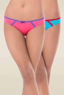 Prettysecrets Blue & Pink Bikini Panties (Pack Of 2)
