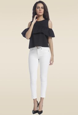 Vero Moda Black Cold Shoulder Top
