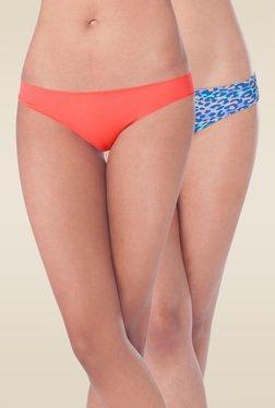 Prettysecrets Orange & Multicolor Bikini Panties (Pack Of 2)
