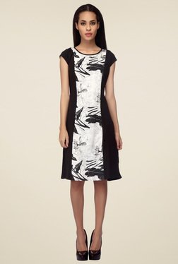 Mineral Black Printed Midi Dress