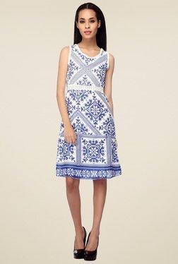 Mineral White Regular Fit Midi Dress