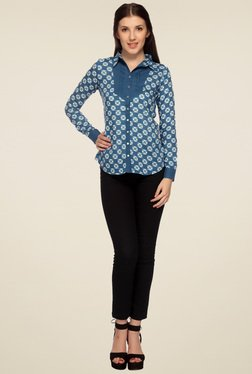 Mineral Blue Full Sleeves Shirt