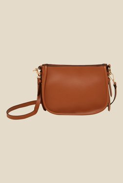 New Look Tan Harper Saddle Bag