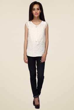 Mineral White Regular Fit Top